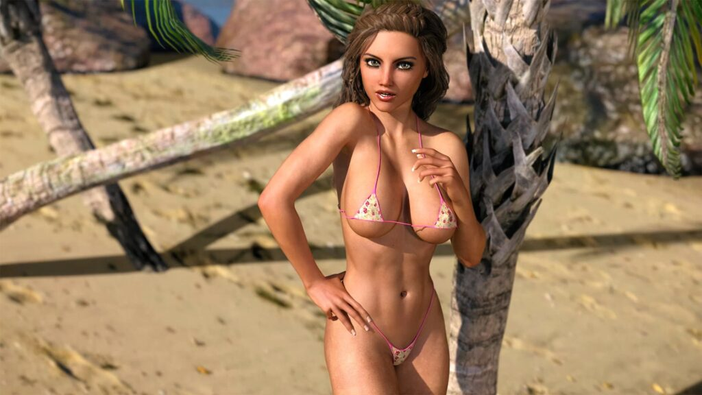 Holiday Island Big Tits Porn Game