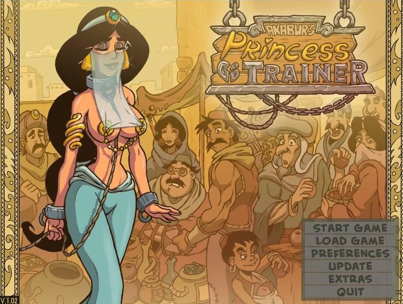 princess trainer alladdin porn parody game