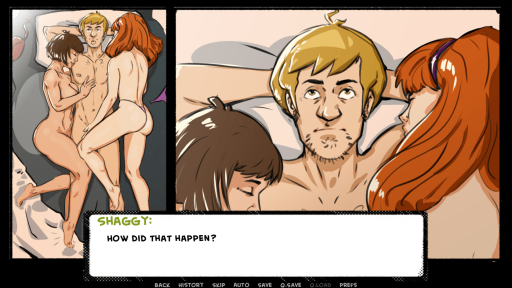 shaggys power scooby doo porn game